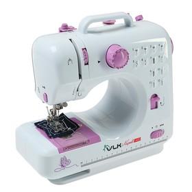 Швейная машина VLK Napoli 1400, 12 операций, 4хАА/от сети, бело-розовая Ош