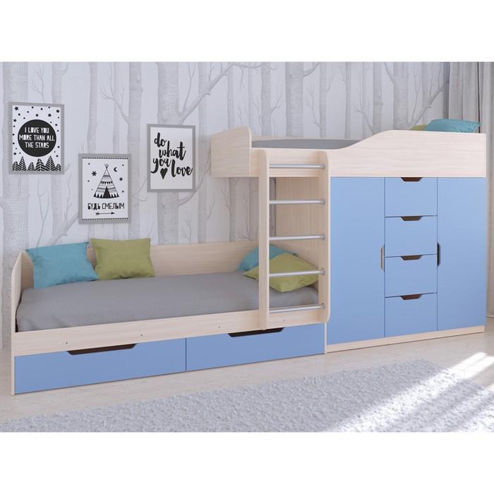 Детский комплекс «Астра 6», цвет дуб молочный/голубой