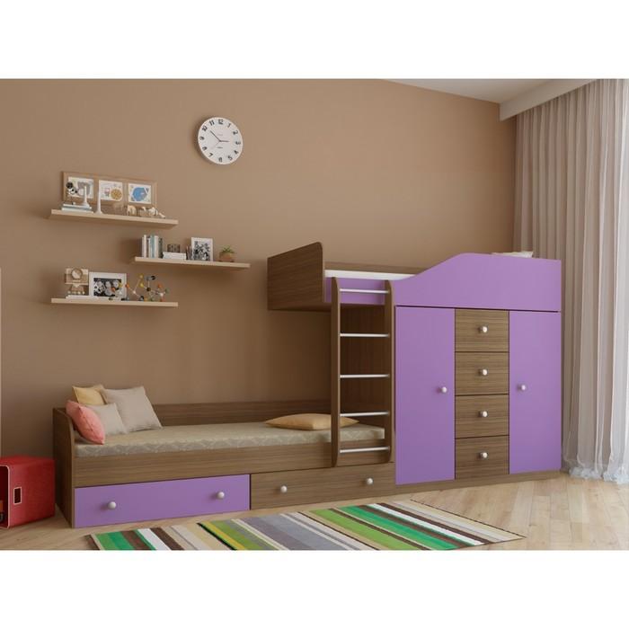 Детский комплекс «Астра 6», цвет дуб шамони/фиолетовый