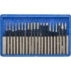 Набор шарошек ЗУБР 33383-H20, алмазное напыление, P180, хвостовик d=3мм, 20 предметов