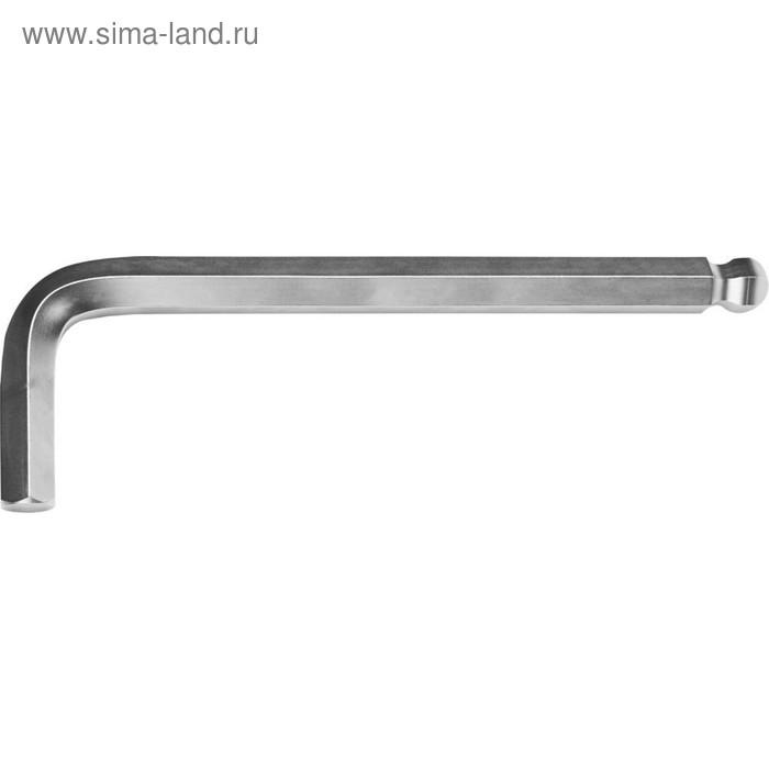 Ключ KRAFTOOL 27437-24, имбусовый, длинный, Cr-V, хромосатинированное покрытие, HEX 24