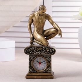 Часы настольные 'Атлет', цвет золото, 26.5х11.5х7.5 см Ош