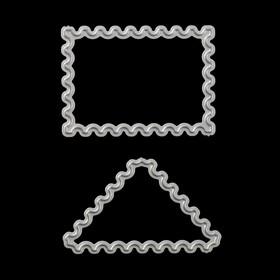 Нож для вырубки 'Почтовые марки' (набор 2 шт) 4,6х3,3 и 4,8х2,8 см Ош