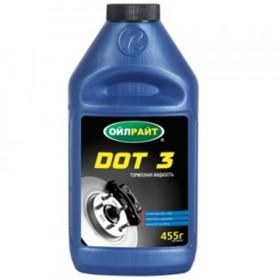Жидкость тормозная, OILRIGHT DOT-3, 455 г Ош