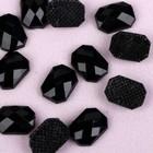 Стразы термоклеевые «Прямоугольник», 6 ? 8 мм, 50 шт, цвет чёрный
