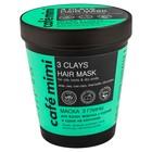 Маска 3 глины для волос Cafe Mimi жирных у корней и сухих на кончиках 220 мл