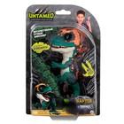 Интерактивная игрушка «Динозавр Фури», тёмно-зелёный с бежевым, 12 см