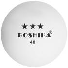 Мяч для настольного тенниса BOSHIKA, 3 звезды, набор 6 шт., цвет белый - Фото 2