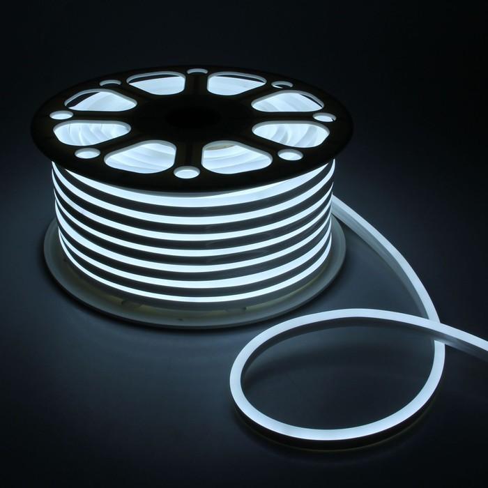 Гибкий неон, 8х16 мм, 50 м, LED/м-120-SMD2835-24V, БЕЛЫЙ