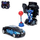 Робот радиоуправляемый «Автобот-боксёр», трансформируется, спорткар, с аккумулятором, заряд от USB - Фото 1