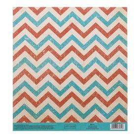 Бумага для скрапбукинга с клеевым слоем «Зигзаги», 20 × 21,5 см, 250 г/м