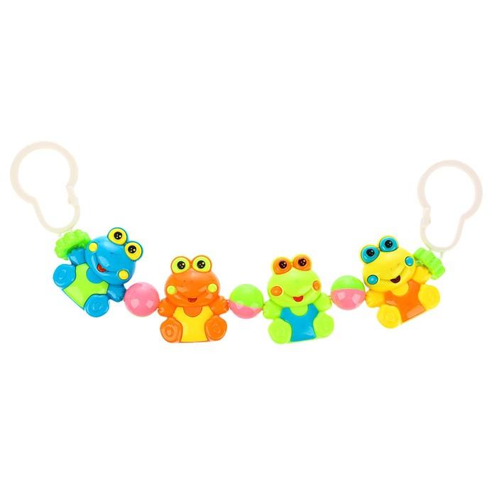 Растяжка на коляску/кроватку «Лягушата», 4 игрушки