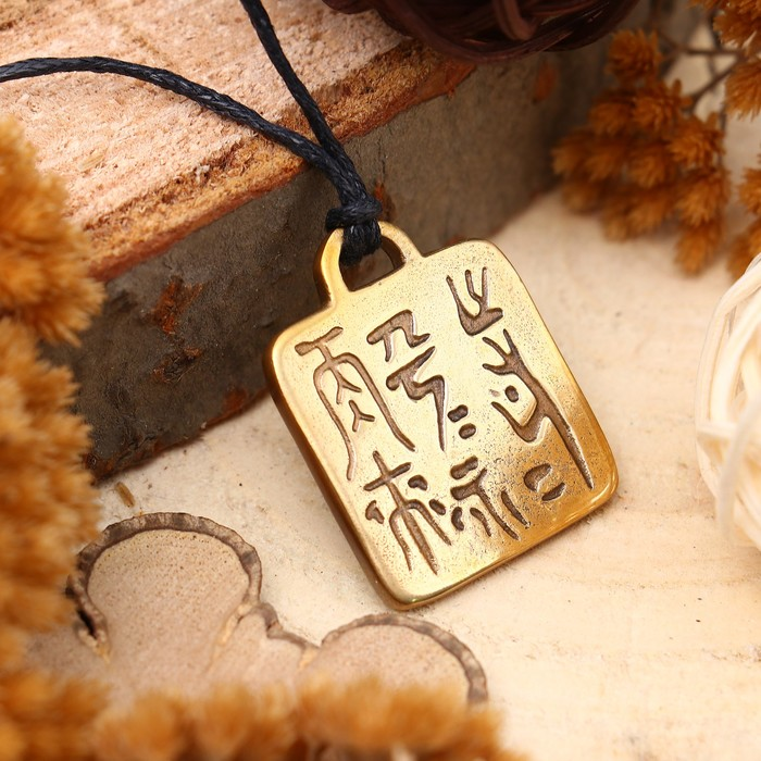 """Амулет """"Китайская магическая печать"""" (рекомендуется для переживших сильные потрясения) , длина 68см"""