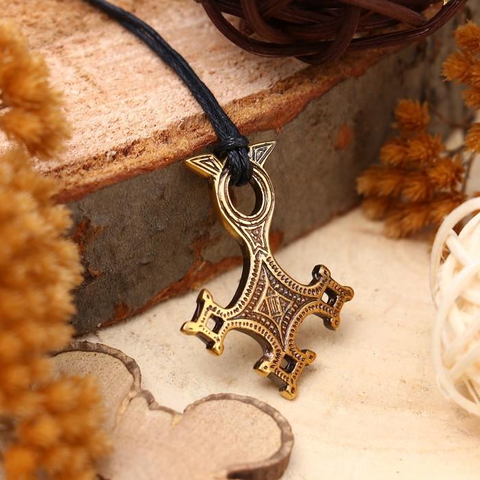 """Амулет """"Крест Туарегов"""" (защищает от всего неизвестного и опасного для жизни) , длина 68см"""