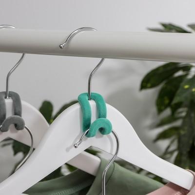 Крючок для вешалок, 5×3×3,4 см, цвет МИКС