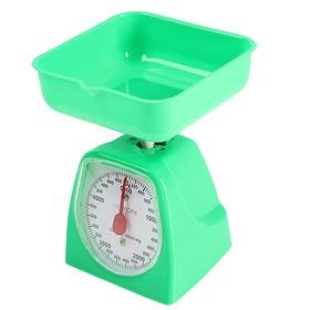 Весы кухонные LuazON LVKM-501, механические, до 5 кг, чаша 1200 мл, зелёные Ош
