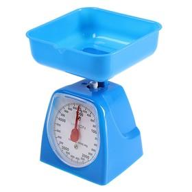 Весы кухонные LuazON LVKM-501, механические, до 5 кг, чаша 1200 мл, синие Ош