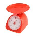 Весы кухонные LuazON LVKM-502, механические, до 5 кг, чаша 200 мл, красные