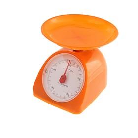 Весы кухонные LuazON LVKM-502, механические, до 5 кг, чаша 200 мл, оранжевые Ош
