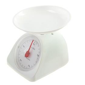 Весы кухонные LuazON LVKM-502, механические, до 5 кг, чаша 200 мл, белые Ош