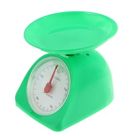 Весы кухонные LuazON LVKM-502, механические, до 5 кг, чаша 200 мл, зелёные Ош