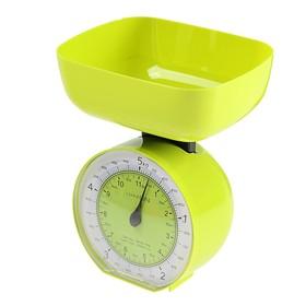 Весы кухонные LuazON LVKM-503, механические, до 5 кг, чаша 1000 мл, зелёные Ош