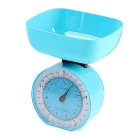 Весы кухонные LuazON LVKM-503, механические, до 5 кг, чаша 1000 мл, , голубые Ош