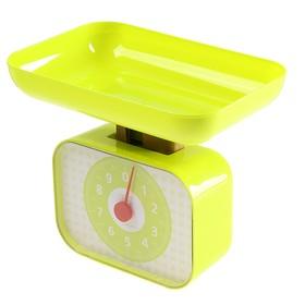 Весы кухонные LuazON LVKM-1001, механические, до 10 кг, чаша 1200 мл, зелёные Ош