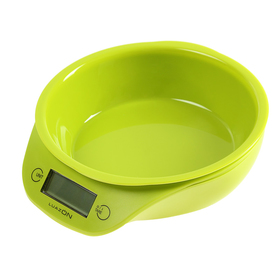 Весы кухонные LuazON LVKB-501, электронные, до 5 кг, чаша 1.3 л, зелёные Ош
