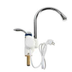 Кран-водонагреватель UNIPUMP BEF-001, проточный, 3000 Вт, max нагрев до 60 С, белый