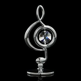Сувенир «Скрипичный ключ», 3×3,6×7,8 см, с кристаллами Сваровски Ош