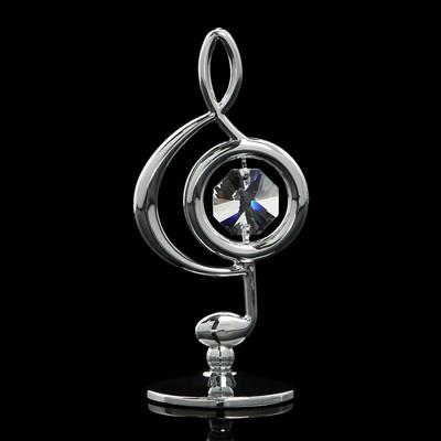 Сувенир «Скрипичный ключ», 3×3,6×7,8 см, с кристаллами Сваровски