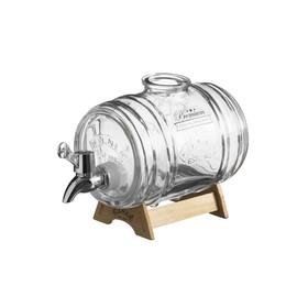 Диспенсер для напитков Kilner Barrel на подставке, 1 л, в подарочной упаковке