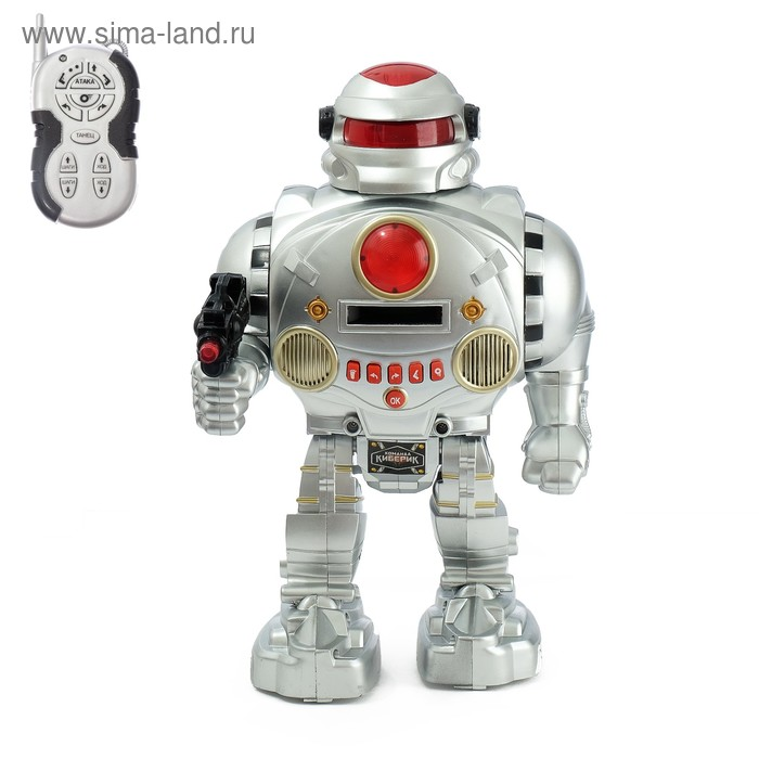 Робот радиоуправляемый «Защитник планеты», световые и звуковые эффекты, стреляет, русский чип