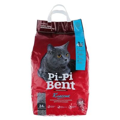 Наполнитель минеральный комкующийся Pi-Pi-Bent Classic, крафт-пакет, 10 кг - Фото 1