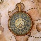 "Часы кварцевые латунь ""Королевство"" 5,5х5,5х8 см"