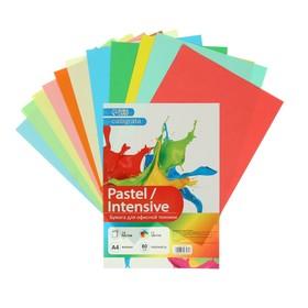 Бумага цветная А4, 24 листа, 12 цветов «Для офисной техники», 80 г/м²