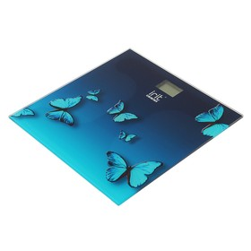 Весы напольные Irit IR-7264, электронные, до 180 кг, рисунок 'бабочки' Ош