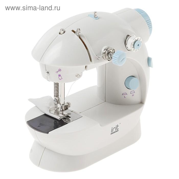 Швейная машинка Irit IRP-01, 220 В, 4*АА (не в комплекте), педаль, голубая