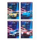Блокнот А7, 40 листов на гребне Calligrata «Авто», обложка картон хром-эрзац