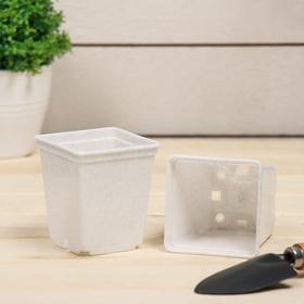 Горшок для рассады, 250 мл, 7 × 7 × 8 см, белый Ош