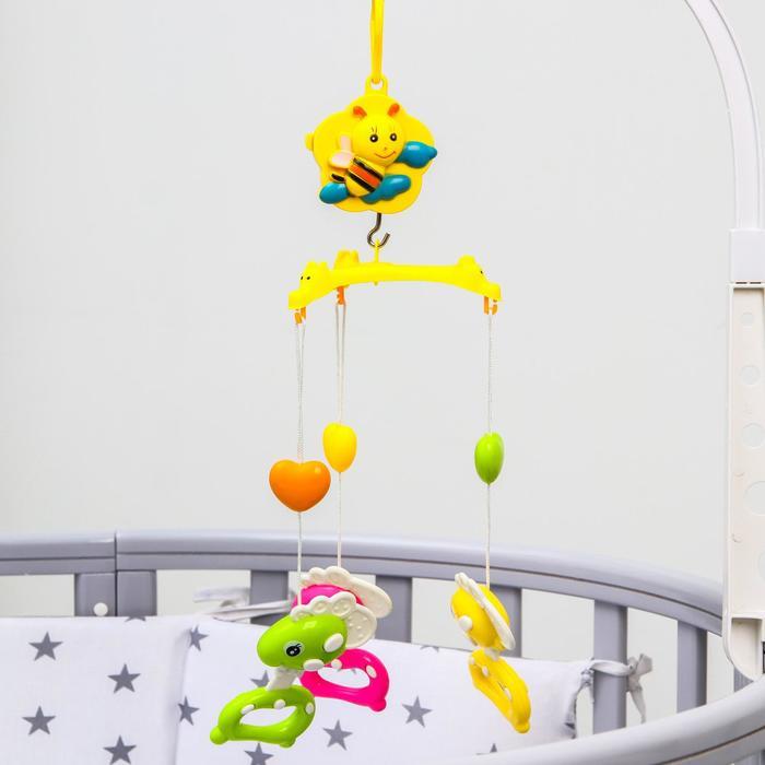 Мобиль музыкальный «Пчелка. Пони», 3 игрушки, заводной, без кронштейна