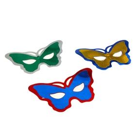 Карнавальная маска 'Мотылек', (набор 6 шт) в наборе 1 цвет, цвета МИКС Ош