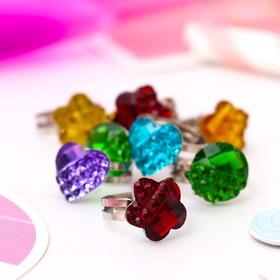 Кольцо детское 'Выбражулька' блестящая половинка, форма МИКС, цвет МИКС, безразмерное Ош