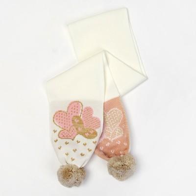 Шарф для девочки, размер 130*14, цвет молочный