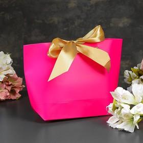 Пакет-сумка ламинированный «Фуксия», розовый, 21 х 7 х 17 см Ош