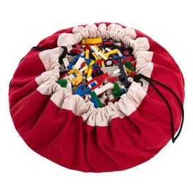 Игровой коврик-мешок для хранения игрушек 2 в 1 Play&Go, коллекция Classic, цвет красный