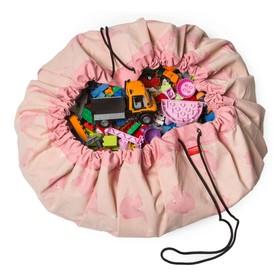 Игровой коврик-мешок для хранения игрушек 2 в 1 Play&Go, коллекция Designer, «Розовый слон