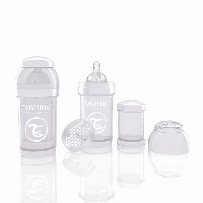 Бутылочка антиколиковая для кормления, 180 мл, от 0 месяцев, цвет белый + контейнер для сухой смеси