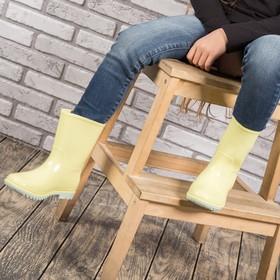 Сапоги детские MINAKU, цвет жёлтый, размер 28 (18 см) Ош